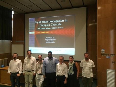 Nikhil Pradeeb Kumar defended his PhD thesis